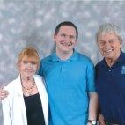 Tim Bradley with Deborah Watling and Frazer Hines at 'Pandorica 2015', Bristol, September 2015