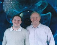 Tim Bradley with Peter Davison at 'Science of the Time Lords', National Space Centre, Leicester, January 2016