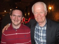 Tim Bradley with Michael Cochrane at 'celebrate 50 - The Peter Davison Years' in Chiswick, London, April 2013