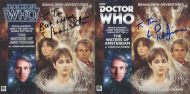 Tim Bradley's CD cover of 'The Waters of Amsterdam' signed by Peter Davison and Sarah Sutton