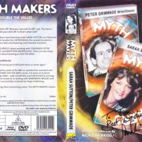 Tim Bradley's DVD cover of 'Myth Makers: Sarah Sutton and Peter Grimwade' signed by Sarah Sutton