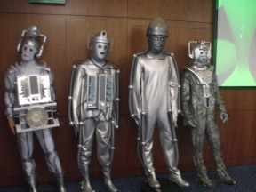 Cybermen suits at 'The Capitol II', Arora Hotel, Gatwick, May 2017