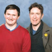 Tim Bradley with Paul McGann at the 'Cardiff Film & Comic Con', March 2014