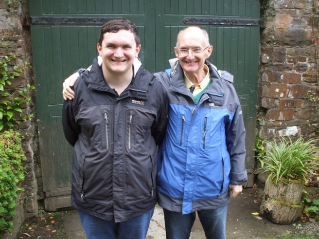 Tim Bradley and Dad at Colby Woodland Garden – Amroth, September 2017