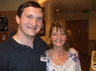 Tim Bradley with Sarah Sutton at 'Regenerations 2010', Swansea, September 2010