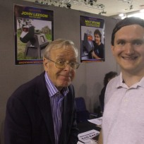 Tim Bradley with John Leeson at the 'Bournemouth Film and Comic Con 2015', August 2015