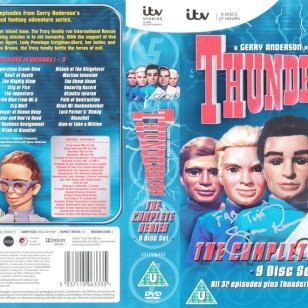 Tim Bradley's DVD cover of 'Thunderbirds: The Complete Series' signed by Shane Rimmer.