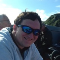 Tim Bradley on the way to Caldey Island, September 2018