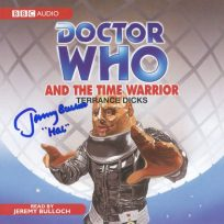 Tim Bradley's CD cover of 'Doctor Who and the Time Warrior' signed by Jeremy Bulloch