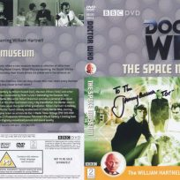 Tim Bradley's DVD cover of 'The Space Museum' signed by Jeremy Bulloch