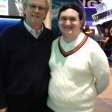 Tim Bradley with Peter Davison at 'Science of the Time Lords', National Space Centre, Leicester, January 2019