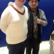 Tim Bradley with Sylvester McCoy at 'Science of the Time Lords', National Space Centre, Leicester, January 2019