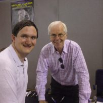 Tim Bradley with Jeremy Bulloch at the 'Bournemouth Film and Comic Con', August 2015