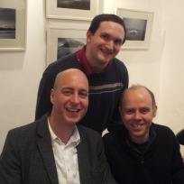 Tim Bradley with Nicholas Pegg and Dan Starkey at 'Big Blue Box 2', Tunbridge Wells, March 2013