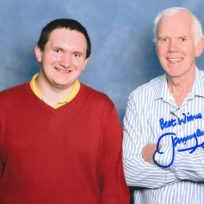 Tim Bradley with Jeremy Bulloch at 'Collectormania 22', Milton Keynes, November 2014